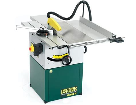cabinet makers table saw record power ts250c 10 quot table saw with sliding beam