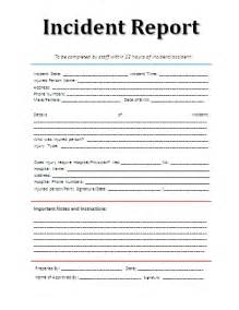 ohs incident report template free 9 incident report sle marital settlements information