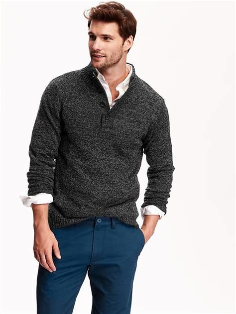 navy s mock neck marled sweater clothing fashion colors photos and