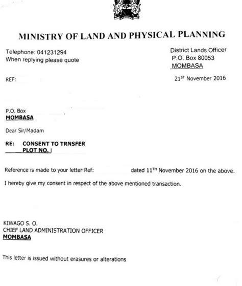 Consent Letter Kenya Eregulations Kenya
