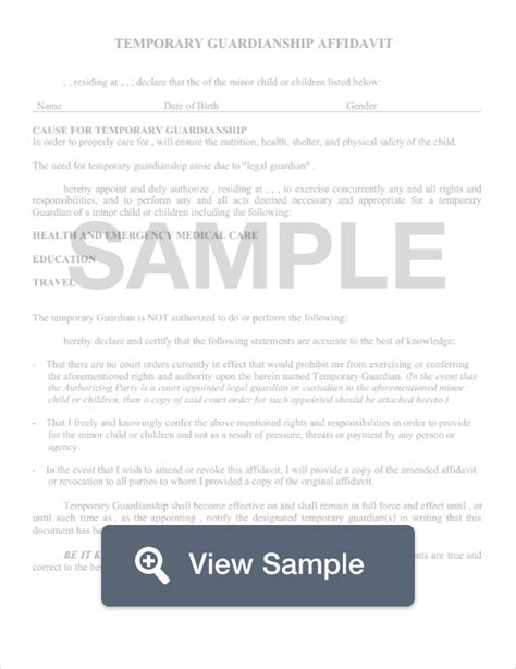 guardianship form guardianship form create for free formswift