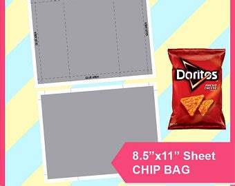 Bag Of Chips Etsy Free Chip Template