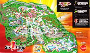map of six flags index of parks pimages six flags st louis 2012 park map