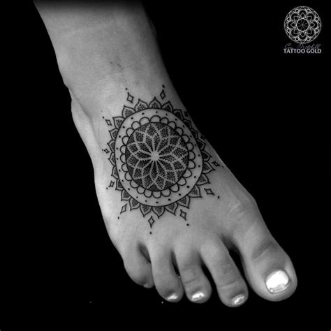 dotwork tattoo designs dotwork mandala foot best ideas designs