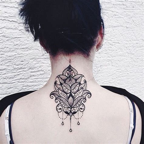 mandala tattoo back 101 pretty back of neck tattoos