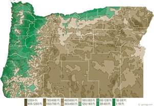 oregon map oregon physical map and oregon topographic map