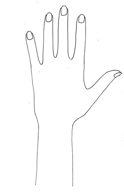 best photos of blank template for henna hand template