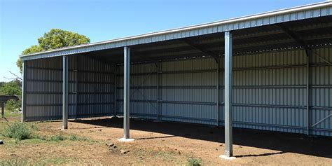 zincalume 174 4 bay farm shed in grandchester qld 4340