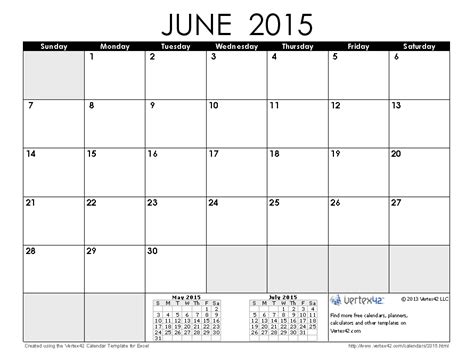 template of june 2015 calendar 2015 calendar templates and images