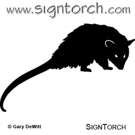 opossum clipart opossum 002 signtorch turning images into vector cut