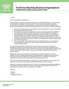 business partnership announcement letter sample designed