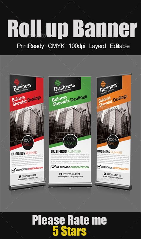 templates for roller banners roll up business banners banner template