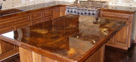Removing Stains From Concrete Countertops by Concrete Countertop Stained Acid Stain Acid Stained