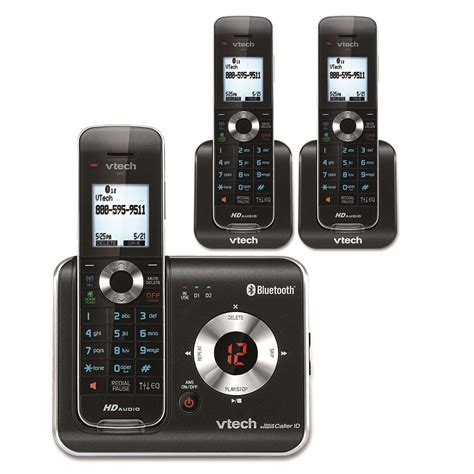 call house phone 3 handset connect to cell answering system with caller id call waiting ds6421 3 vtech