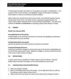 How To Write A Monthly Report Template Sample Monthly Report Template 9 Free Documents In Word