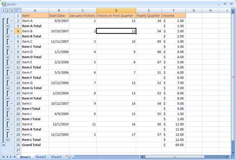 Tutorial Excel Subtotal | calculate subtotals and totals subtotal 171 formula