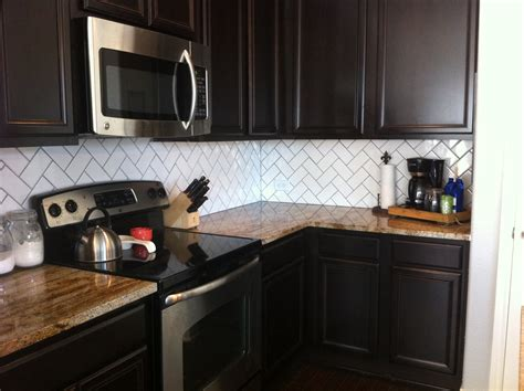 kitchen backsplash with dark cabinets backsplash drab to fab house to home