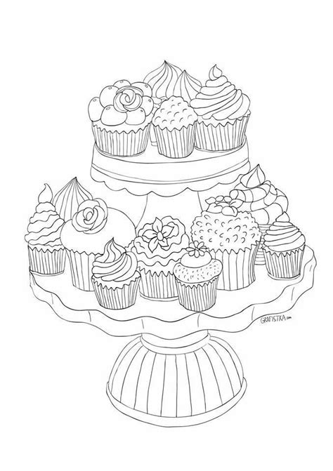coloring pages for adults cupcakes 17 best images about cupcake colouring on