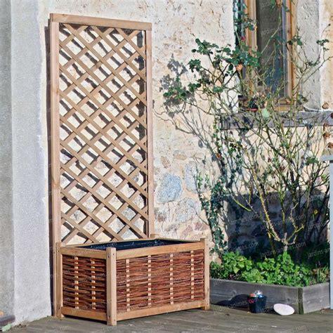 bac avec treillis bac jardiniere et treillis en pin fsc mobilier de jardin