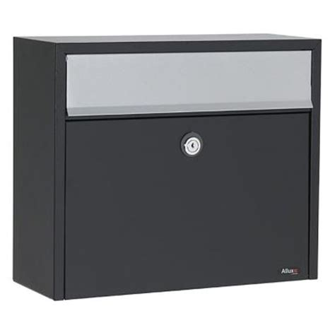allux black wall mount mailbox alx lt150 bk the home depot