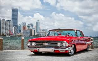 1960s Chevrolet Chevrolet 1960 Chevyred Tuning Low Retro Rod Wallpaper