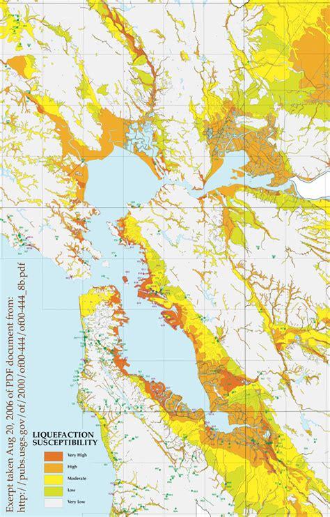 san francisco liquefaction map when the ground gives way