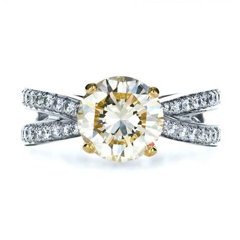 custom canary engagement ring 1225