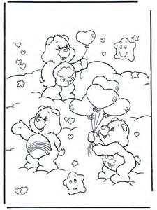 valentijn hartjes en twee beertjes kleurplaat