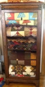 Display Cabinets For Quilts My Quot New Quot Antique Cabinet Filled Of Course With Quilts