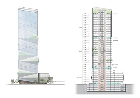 Modern Home Design Hong Kong by Chinese Skyscraper In Wenzhou Drawing 4 E Architect