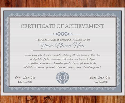certificate of achievement template vector art graphics