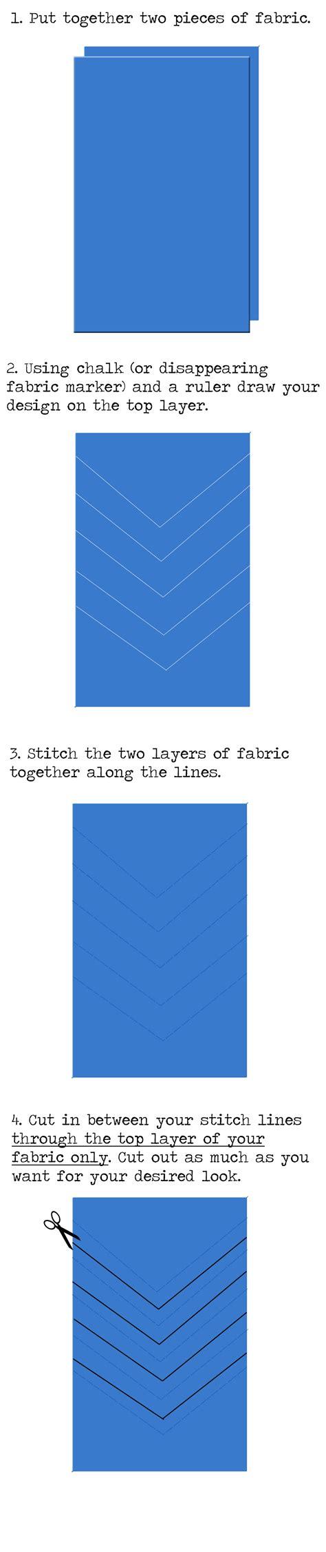 html tutorial notes chelise patterson bias shred skirt tutorial