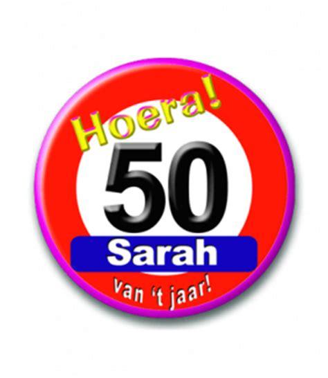gordijn 50 jaar bril 50 jaar roze feestgeest