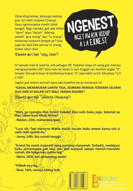 Buku Lo Gue Butuh Tau Ori In tentang buku kedua gue ngenest ernestprakasa