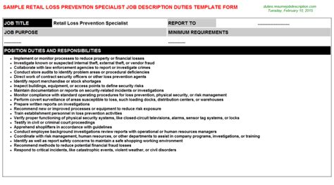 Loss Prevention Duties by Description Vibrant Retail Manager Resume 6 Operations And Sales Manager Resume How To Type