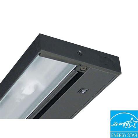 Westek Incandescent Black Strip Light Sl30lb The Home Depot Incandescent Cabinet Lighting