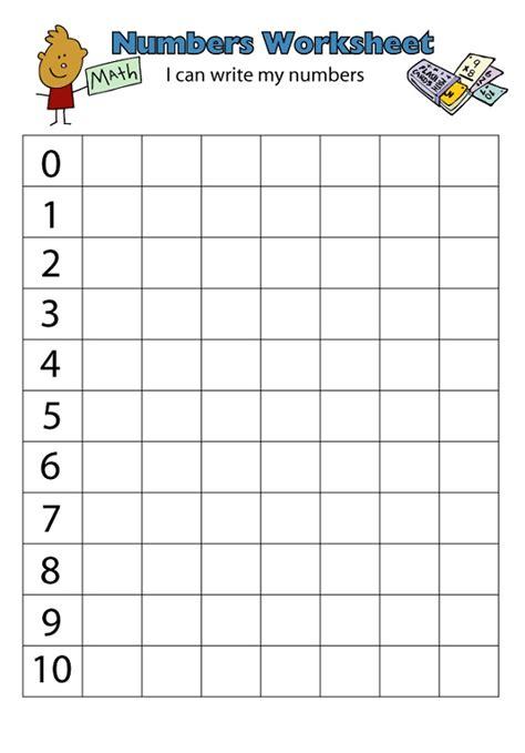 number 1 10 worksheets printable activity shelter