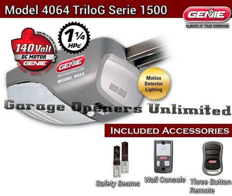 Genie Pro Drive Garage Door Opener Manual by Genie Trilog 37045s Dc Drive Garage Opener Only