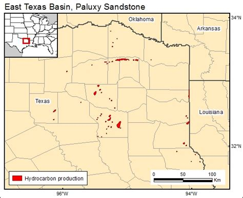 fields in texas map co2 brine database