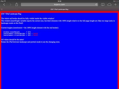 orientation landscape javascript hoy he aprendido 187 el bug de la altura en los ipad