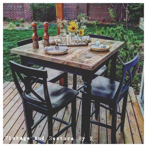 Patio Furniture High Top Table And Chairs Patio Patio High Top Table Bar Height Patio Set With Swivel Chairs High Top Table Umbrella