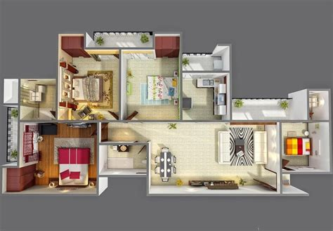 Floor Plans For Realtors by Planos Para Apartamentos Con 4 Habitaciones