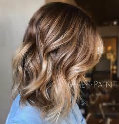 hair balayage for bottom and light brown top