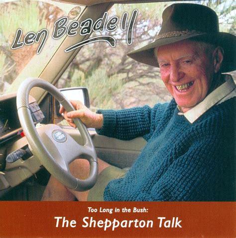 Len Shop by Len Beadell The Shepparton Talk Cd Hawker Visitor