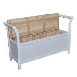 Bench Seat With Storage White Wooden Bench Cabinet Seat Storage Home Chair With Armrests Ebay