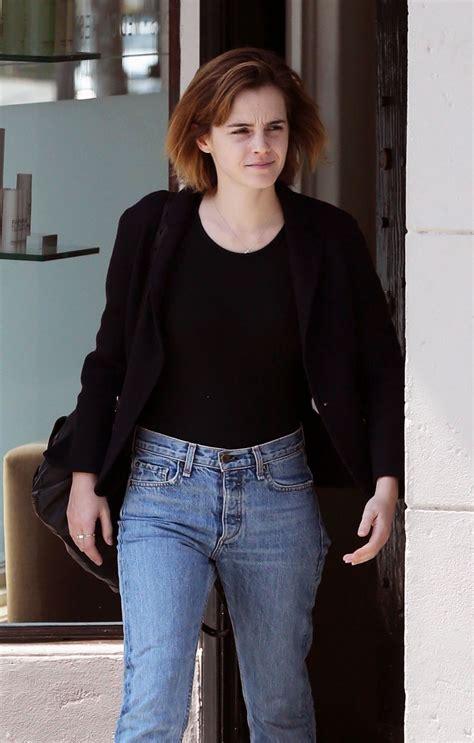 emma watson jeans emma watson in jeans leaving beauty salon in hollywood 4
