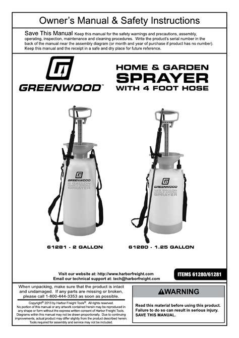 harbor freight tools  gal home  garden sprayer