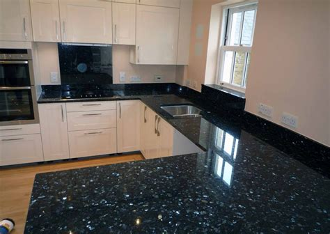 Metallic Kitchen Backsplash by Black Pearl Granite