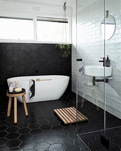 black bathroom tile ideas best ideas about black white bathrooms on black and black