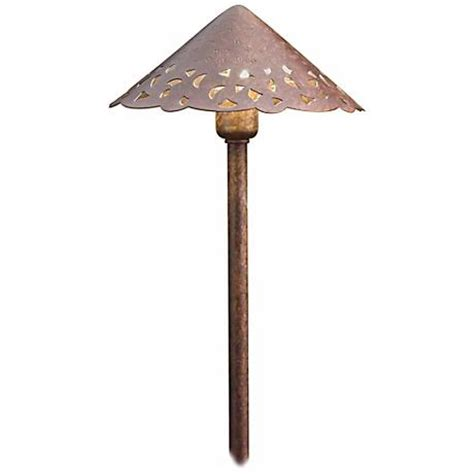 kichler hammered roof bronze landscape path light 52460